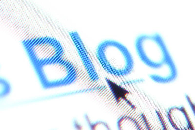 A palavra ?blogue? como um hipervínculo imagens de stock