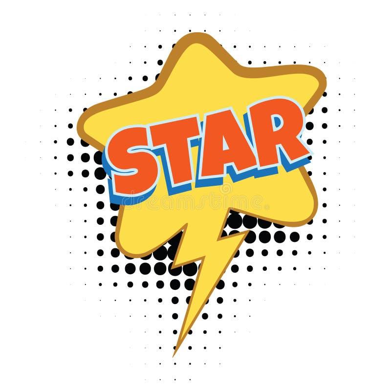 Palavra cômica da estrela ilustração stock