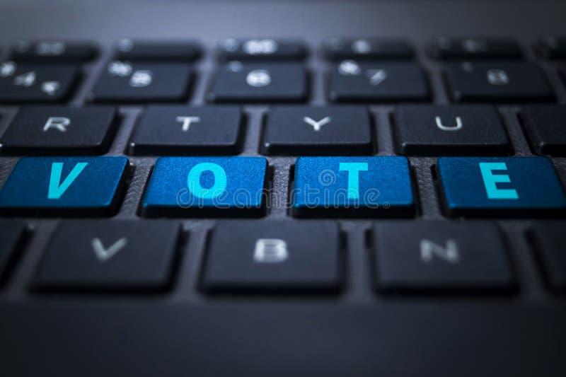 Palavra-chave do VOTO no teclado ilustração stock