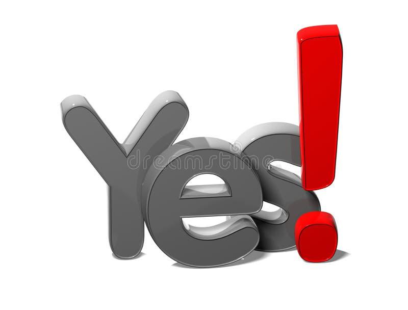 palavra 3D sim no fundo branco ilustração do vetor