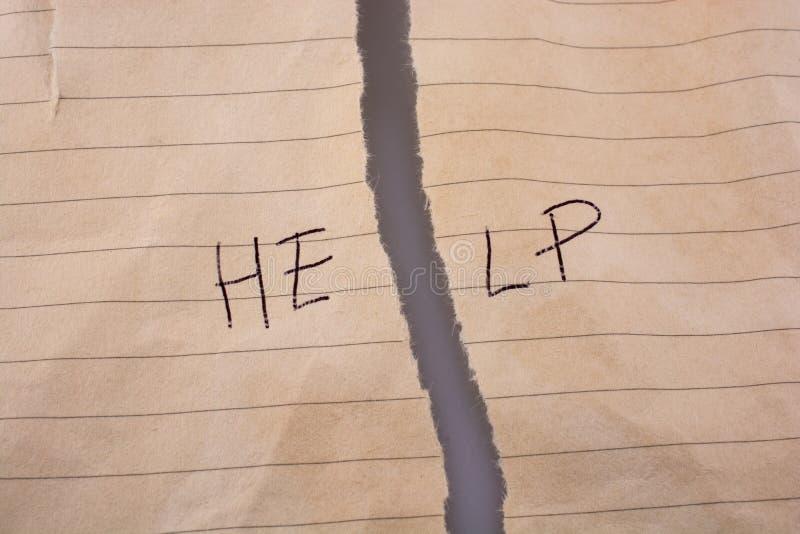 Download Palavra Da Ajuda No Papel Rasgado Ilustração Stock - Ilustração de ajuda, fundo: 80100635