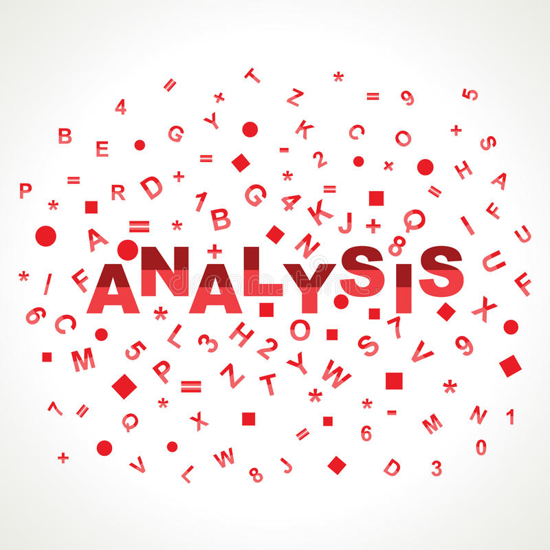Palavra da análise com em alfabetos ilustração royalty free