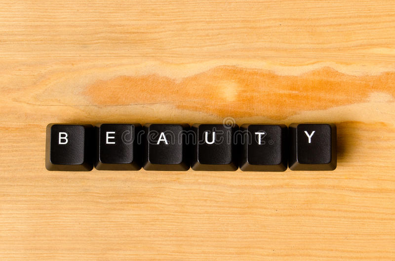 Palavra da beleza imagem de stock royalty free