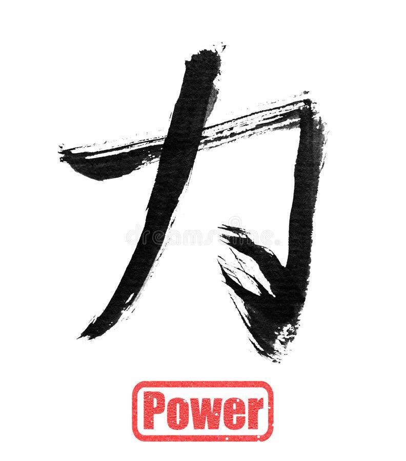 Palavra da caligrafia, poder ilustração royalty free