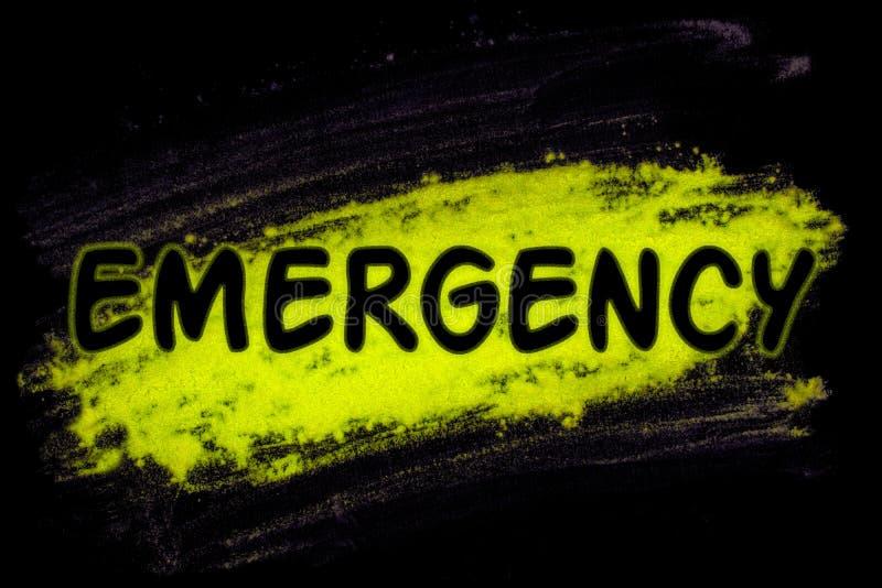 Palavra da emergência com pó do fulgor ilustração royalty free