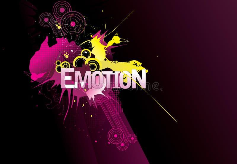 Palavra da emoção   ilustração do vetor