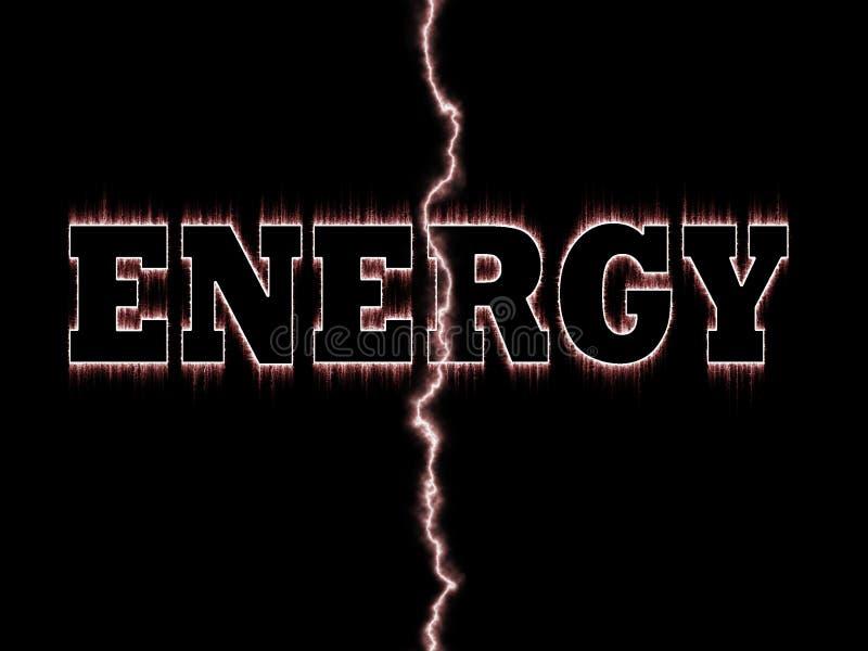 Palavra da energia ilustração do vetor