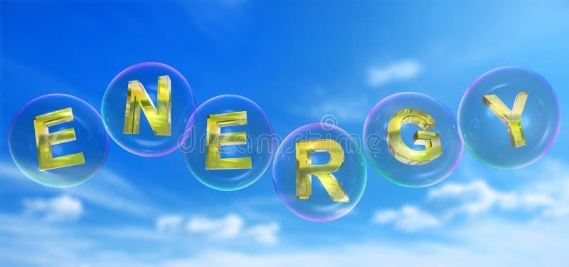 A palavra da energia na bolha ilustração do vetor