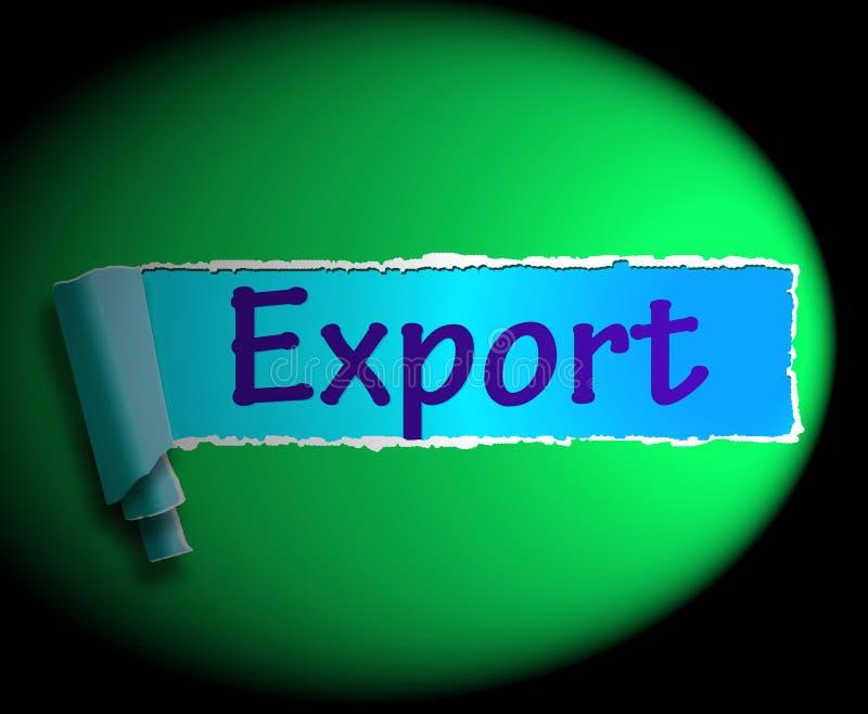 A palavra da exportação mostra a venda da rendição 3d ultramarina ilustração do vetor