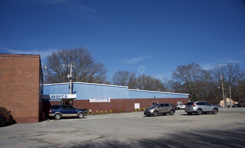 Palavra da fé Christian Academy, Memphis, TN imagem de stock royalty free