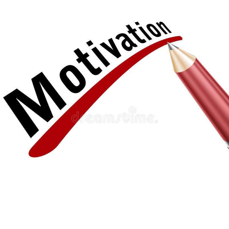 Palavra da motivação unterlined ilustração stock