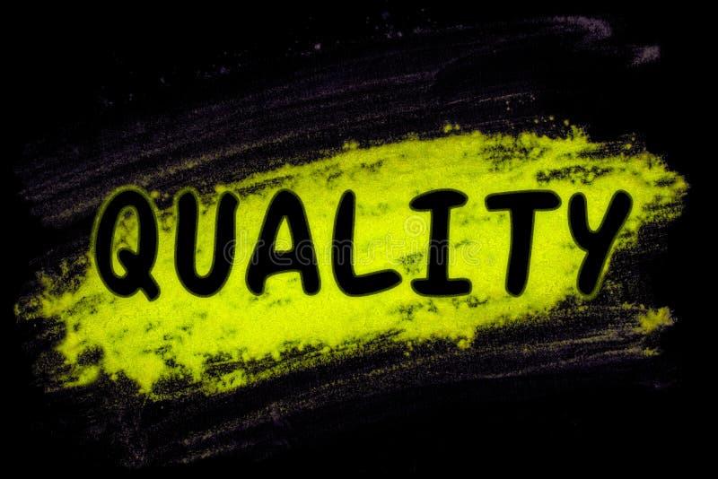 Palavra da qualidade com pó do fulgor foto de stock royalty free