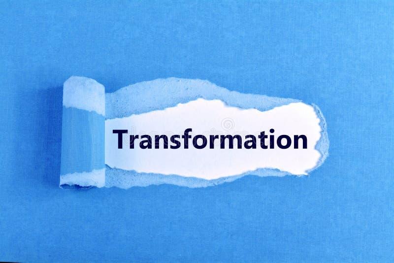 Palavra da transformação imagens de stock