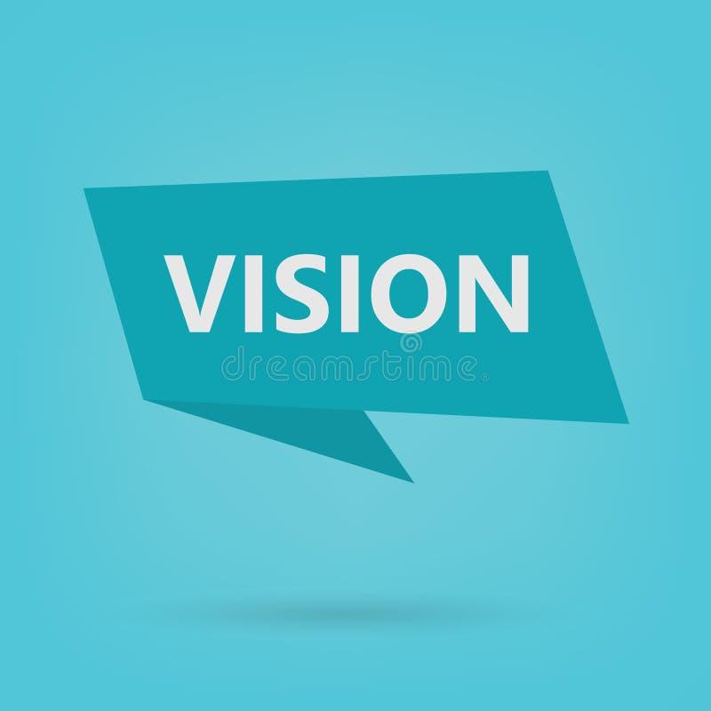 Palavra da visão na etiqueta ilustração do vetor