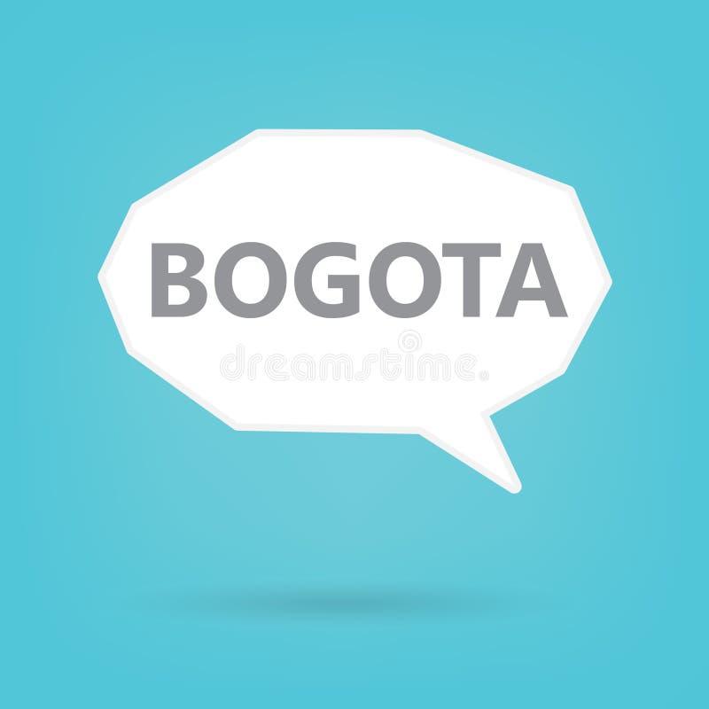 Palavra de Bogotá em uma bolha do discurso ilustração royalty free