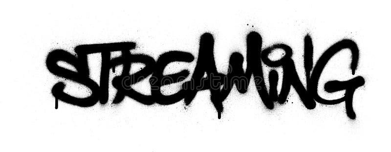 Palavra de graffiti espalhada a preto sobre branco ilustração royalty free