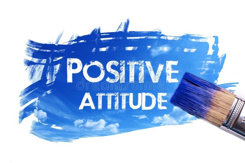 Palavra de pintura da atitude positiva ilustração do vetor
