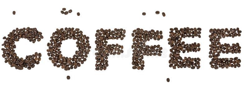 Palavra do café imagens de stock royalty free