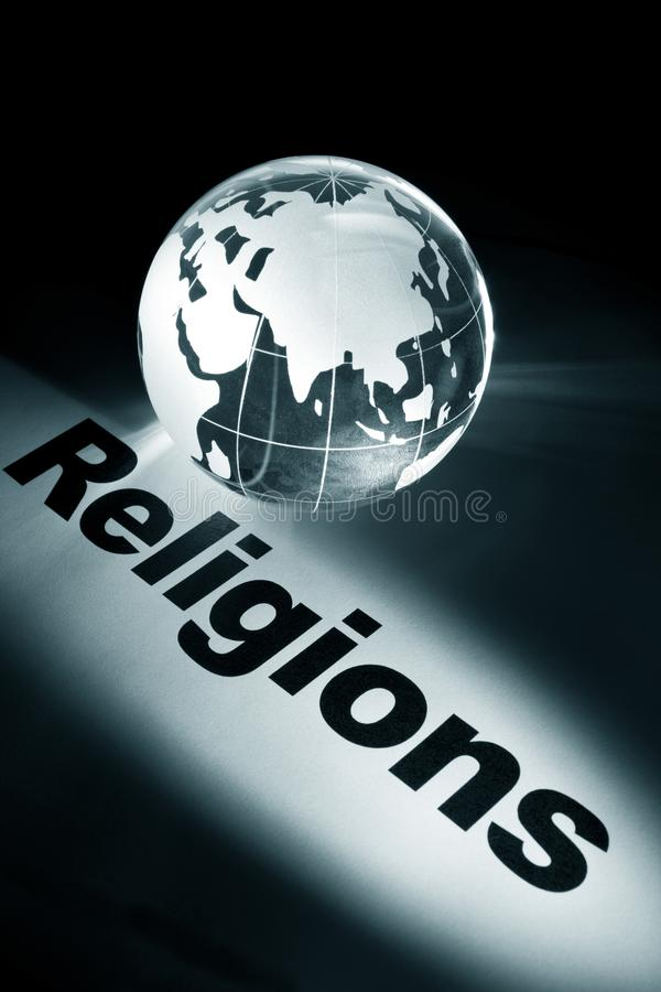 Palavra do conceito das religiões imagens de stock royalty free