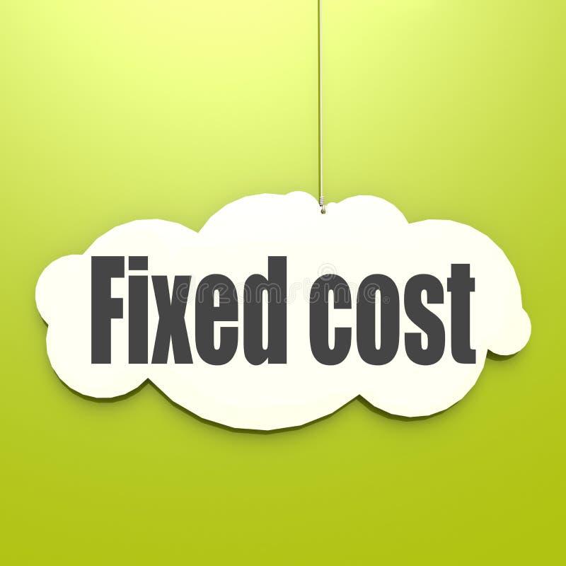 Palavra do custo fixo na nuvem branca ilustração royalty free