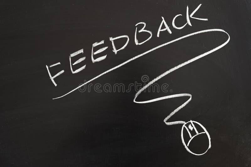 Palavra do feedback e símbolo do rato imagem de stock
