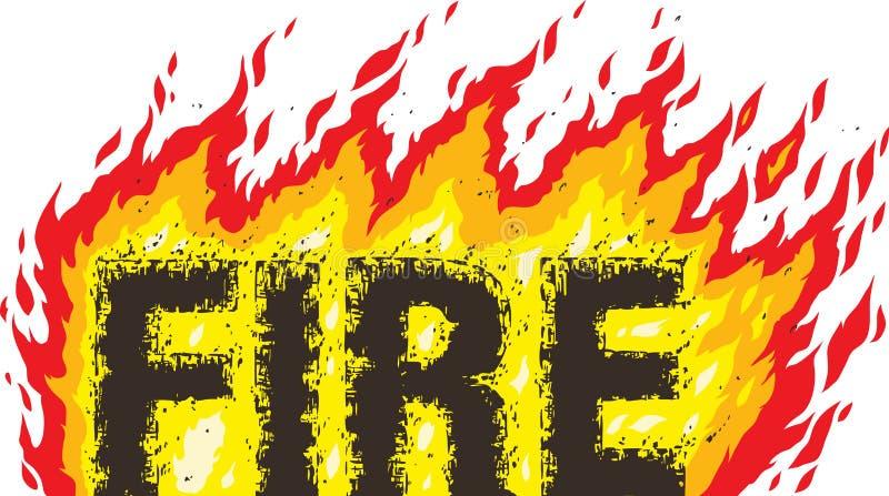 Palavra do fogo ilustração royalty free
