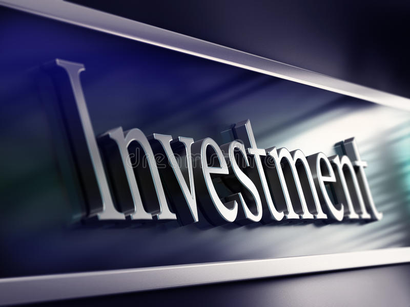 Palavra do investimento, fachada do banco, fazendo investimentos