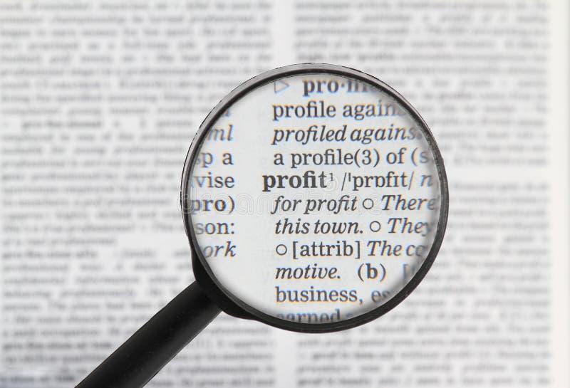 Palavra do lucro no dicionário fotografia de stock royalty free