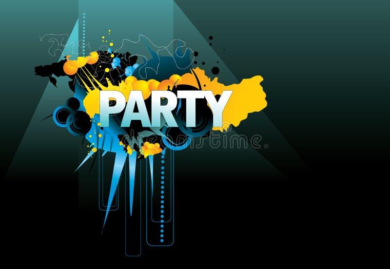 Palavra do partido   ilustração stock