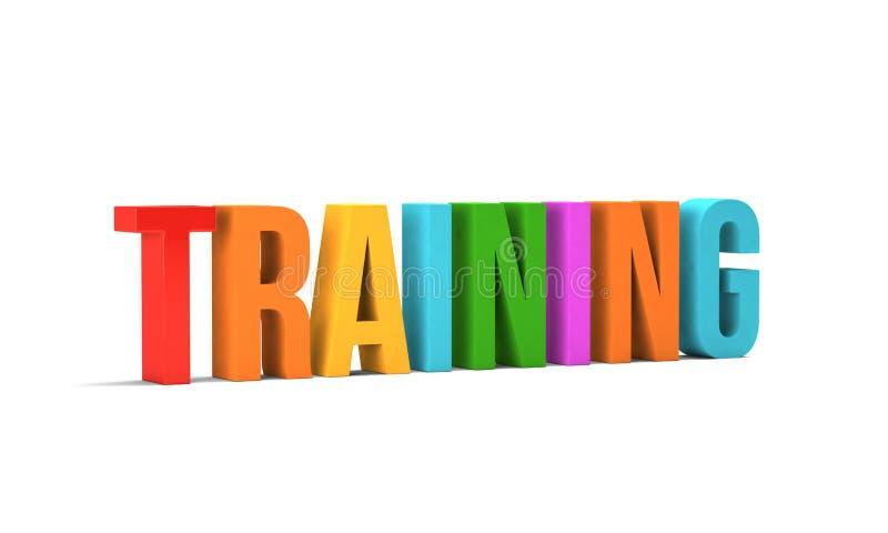 Palavra do treinamento 3d rendem a ilustração no fundo branco ilustração royalty free