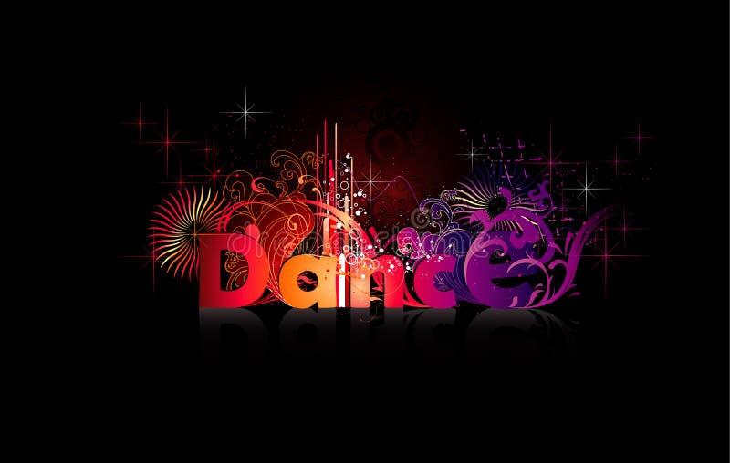 Palavra do vetor da dança ilustração do vetor