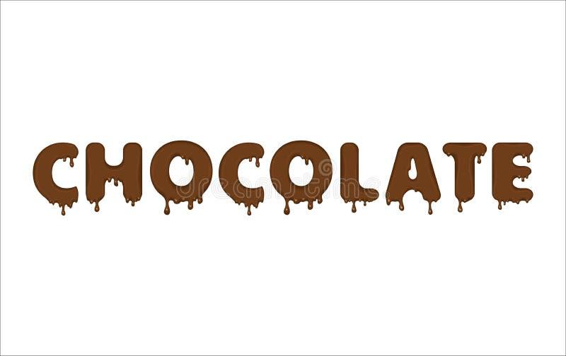 Palavra do vetor feita do chocolate ilustração do vetor