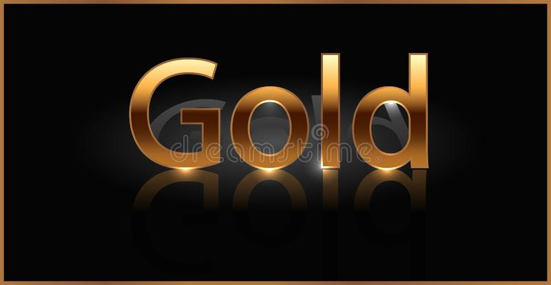 Palavra dourada do ouro ilustração do vetor