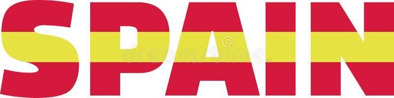 Palavra espanhola da bandeira ilustração royalty free