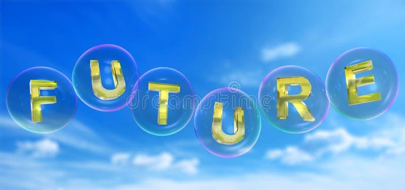 A palavra futura na bolha ilustração stock