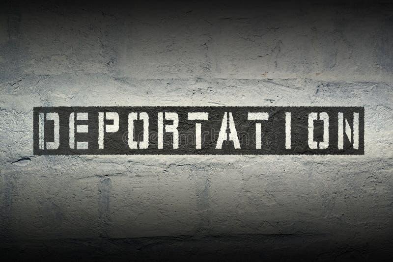 Palavra GR da deporta16cao imagem de stock
