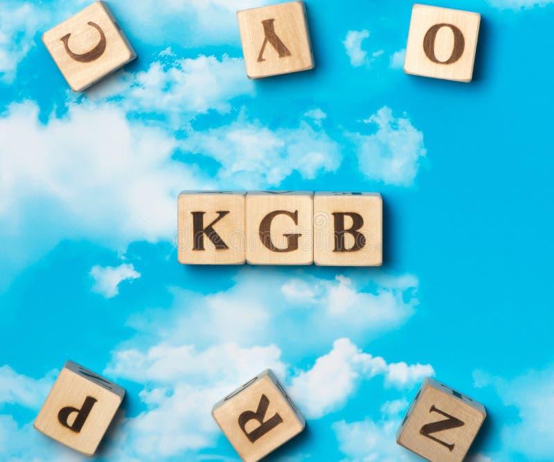 A palavra Kgb imagens de stock royalty free