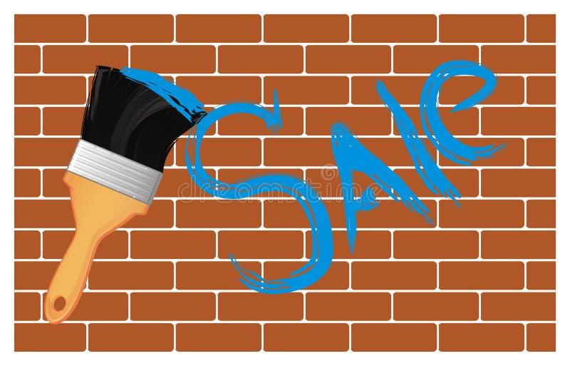 Palavra na parede ilustração stock