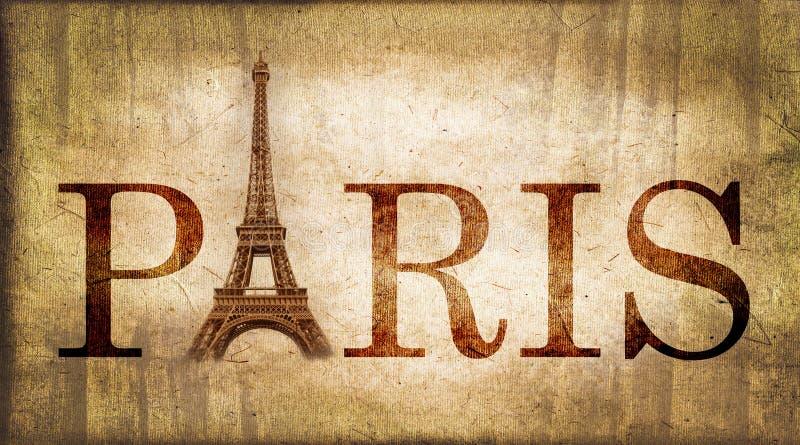 Palavra Paris do vintage imagem de stock