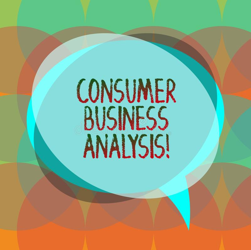 Palavra que escreve a análise de negócio do consumidor do texto O conceito do negócio para para recolher a informação no mercado- ilustração royalty free