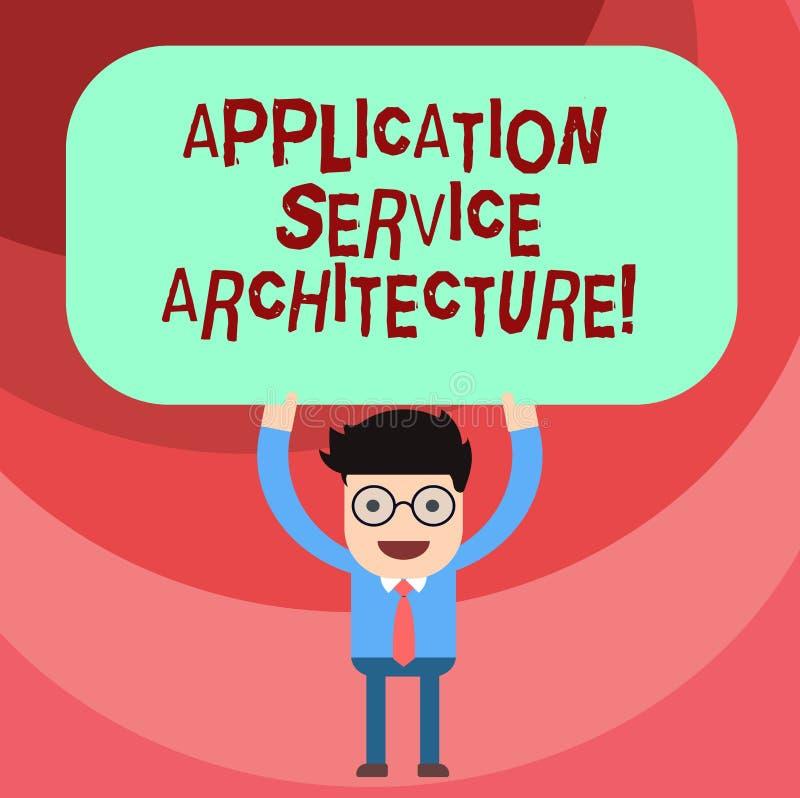 Palavra que escreve a arquitetura do serviço da aplicação do texto Conceito do negócio para o projeto das soluções que ligam o ho ilustração royalty free