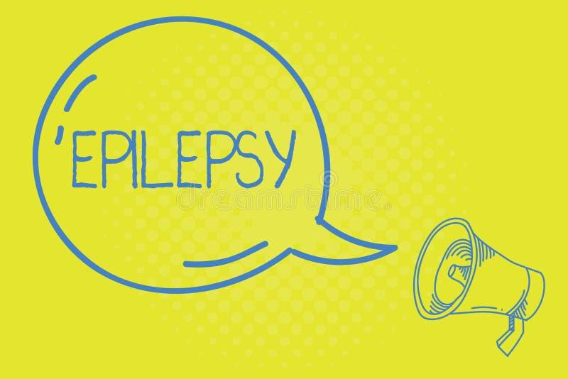 Palavra que escreve a epilepsia do texto Conceito do negócio para quartas apreensões imprevisíveis as mais comuns da desordem neu ilustração royalty free