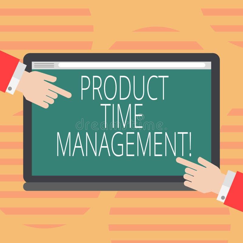 Palavra que escreve a gestão de tempo do produto do texto Conceito do negócio pelo tempo eficazmente Hu da organização, planejar  ilustração do vetor