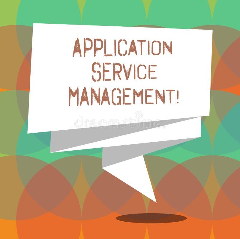 Palavra que escreve a gestão do serviço da aplicação do texto Conceito do negócio para o processo de manter o 3D dobrado operação ilustração do vetor