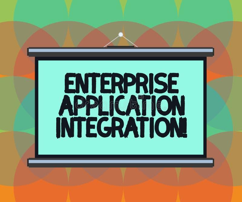 Palavra que escreve a integração da aplicação da empresa do texto Conceito do negócio para a placa de aplicações de conexão da em ilustração do vetor