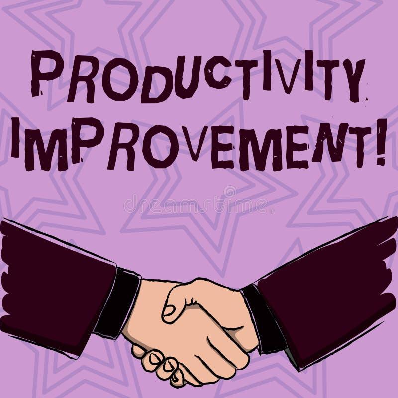 Palavra que escreve a melhoria de produtividade do texto Conceito do negócio para o processo de conseguir mais saída da hora do t ilustração do vetor