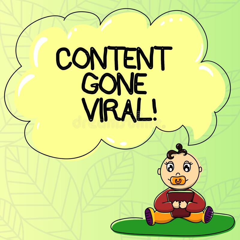 Palavra que escreve o índice do texto ido viral Conceito do negócio para a relação video da imagem que espalha rapidamente atravé ilustração do vetor