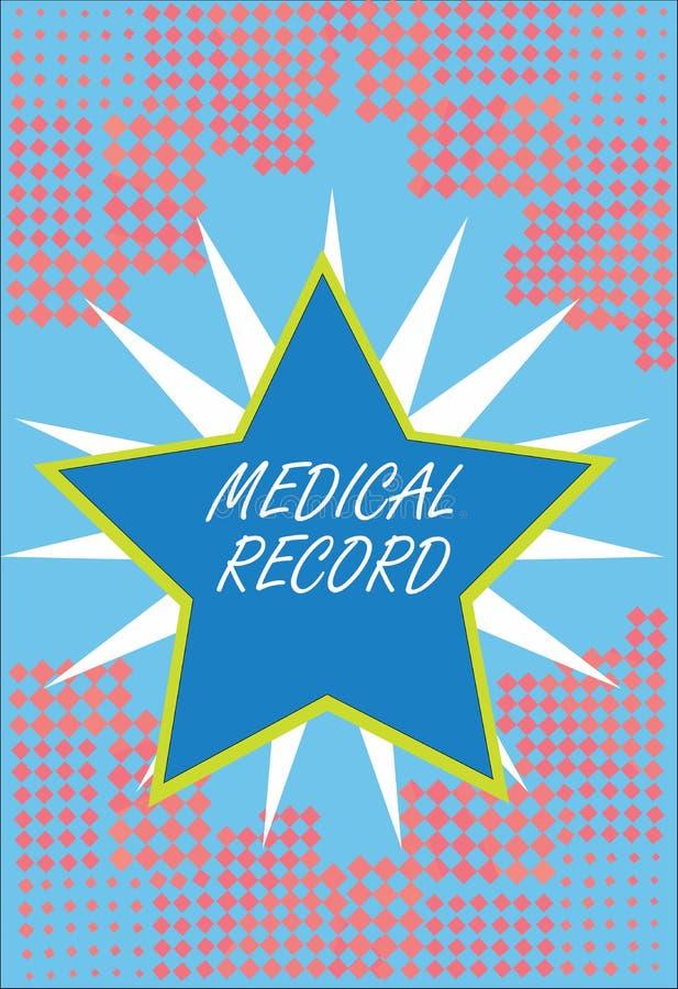 Palavra que redige o informe médico do texto O conceito do negócio para na informação redigida ordem sobre um s de demonstração é ilustração stock