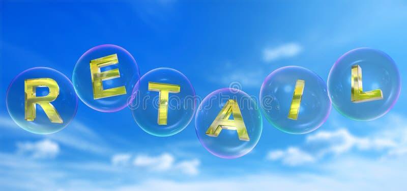 A palavra varejo na bolha ilustração do vetor