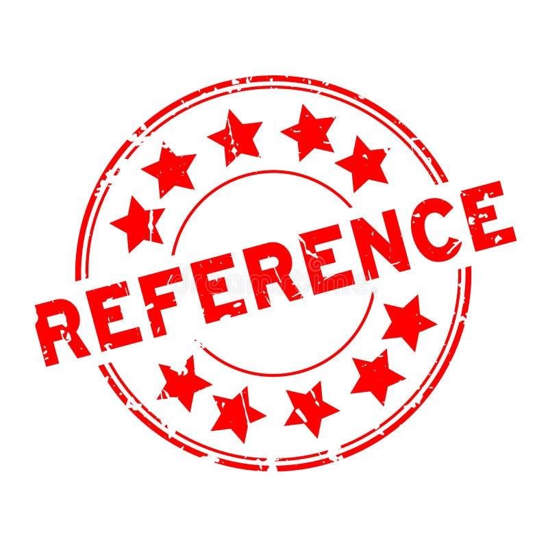 Palavra vermelha de referência verde com ícone de estrela carimbo com selo de borracha sobre fundo branco ilustração royalty free